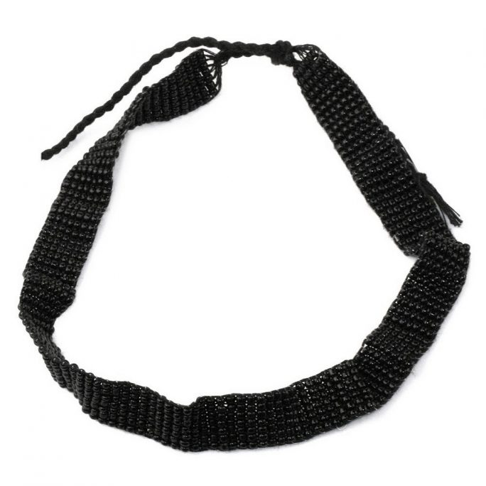 Choker Necklace 13mm Made With Bead & Cotton by JOE COOL