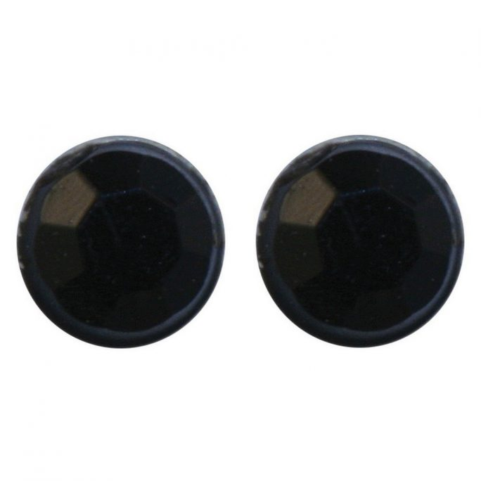 Stud Earring Black Made With Crystal Glass & Magnetic by JOE COOL