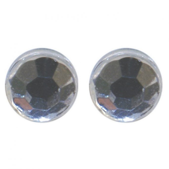 Stud Earring 2 Mm Clear Made With Crystal Glass & Magnetic by JOE COOL