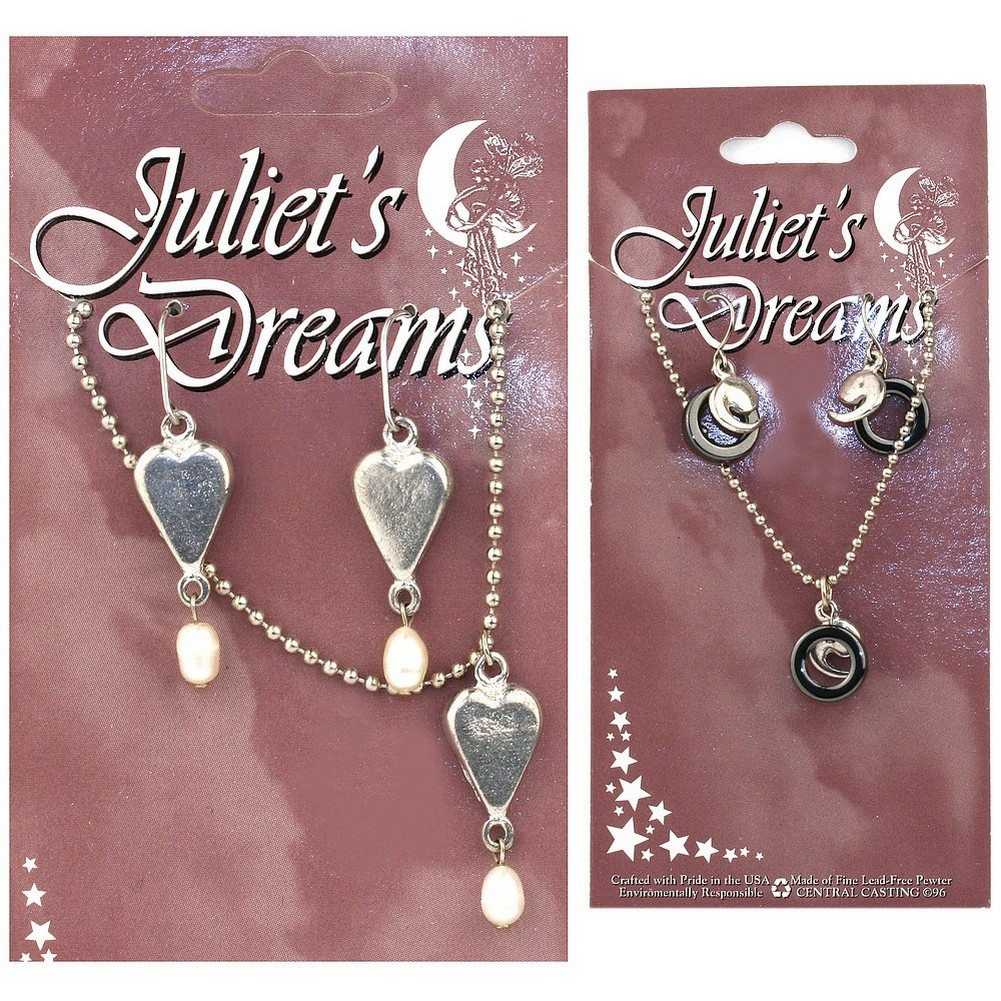 Necklace & Earring Set Juliet's Dreams On Card Made With Chain & Bead by JOE COOL