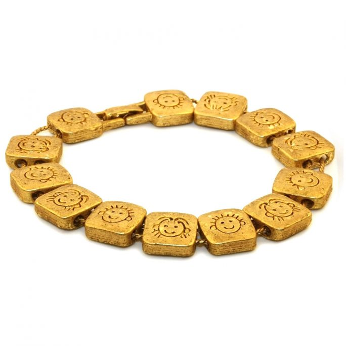 Bracelet Slide Faces Gold by JOE COOL
