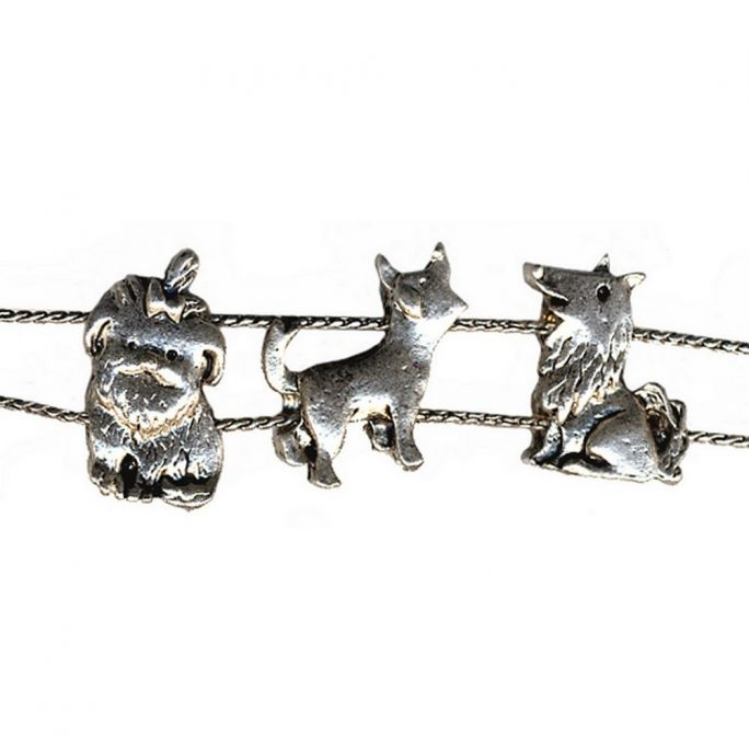 Bracelet Kid Slide Dogs United Made With Tin Alloy by JOE COOL