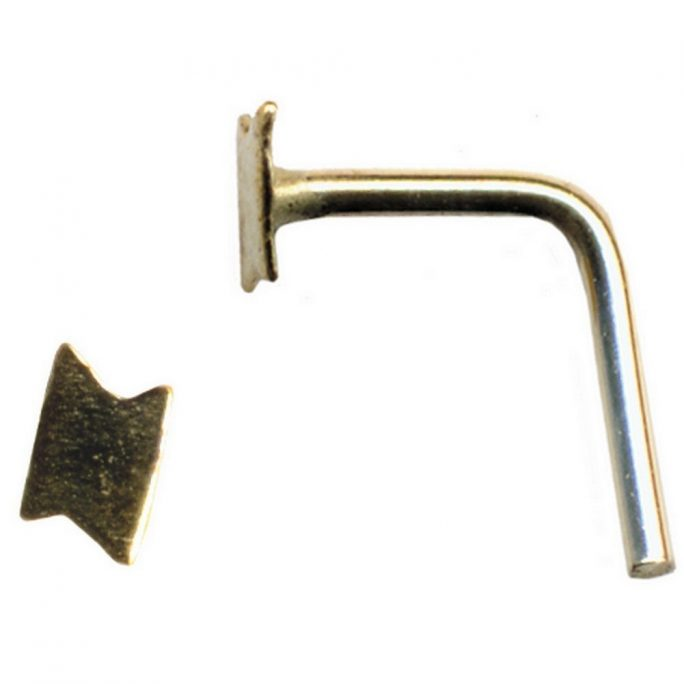 Nose Stud Lightning Flash Made With Gold 9ct by JOE COOL