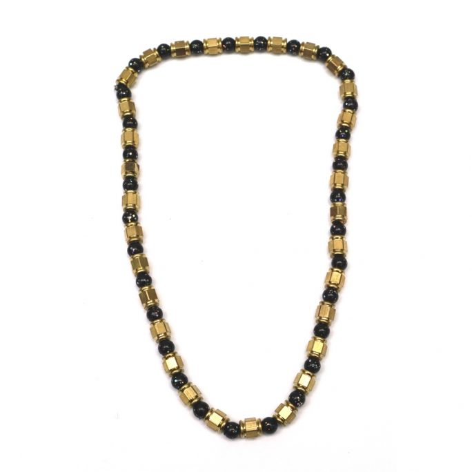 Necklace Galaxy Beeds Made With Glass & Brass by JOE COOL