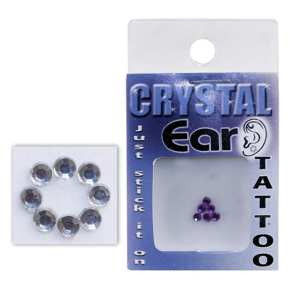 Tattoo Applique Ear & Other Decoration Made With Crystal Glass by JOE COOL