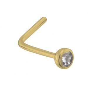Nose Stud Bezel Set Diamond Made With Gold 9ct by JOE COOL