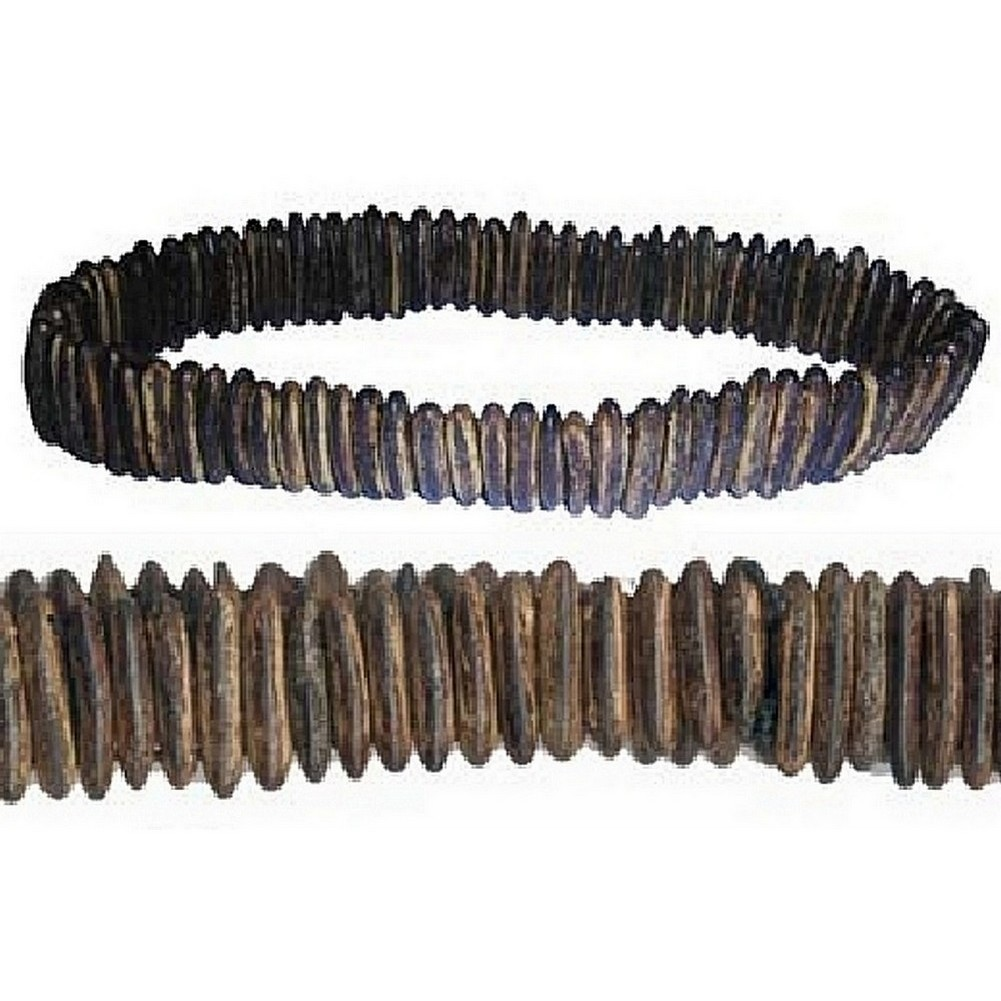 Necklace Long Oval Bead Made With Wood by JOE COOL
