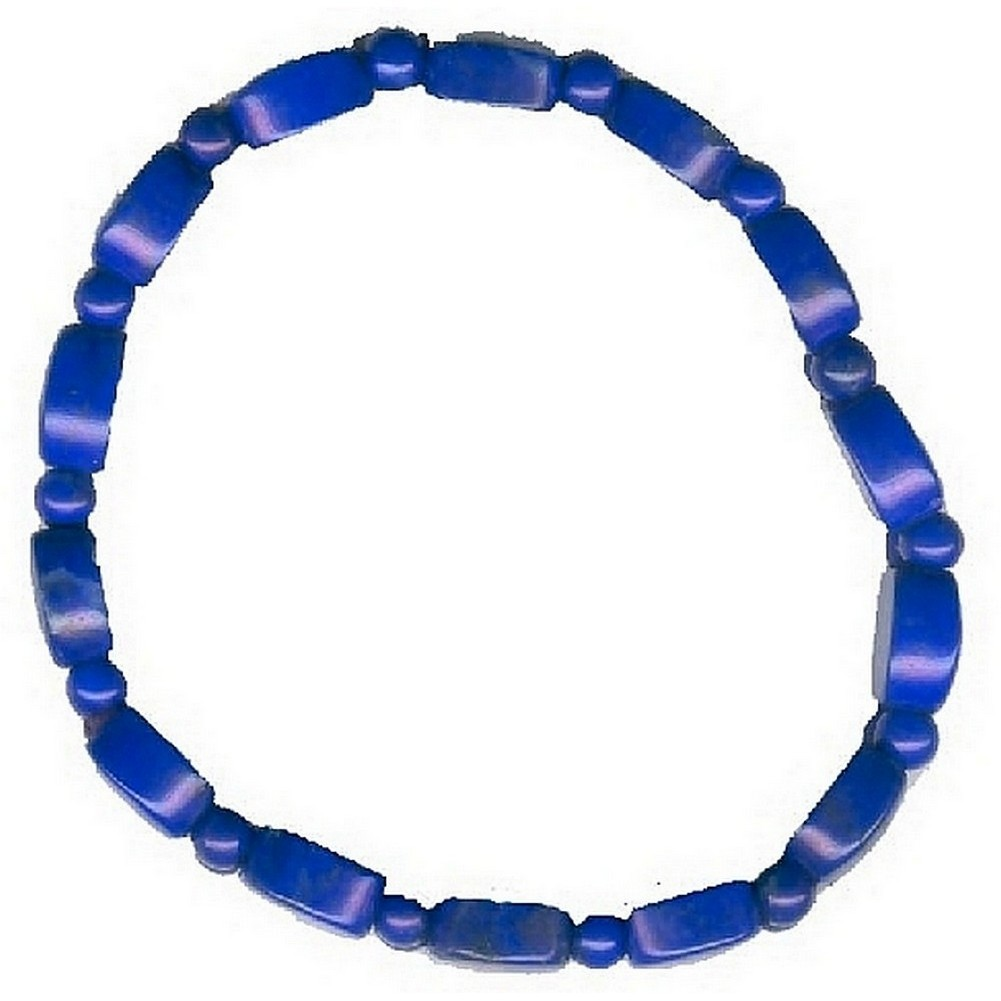 Bracelet Dyed Lapis Stretch Made With Gem Stone by JOE COOL