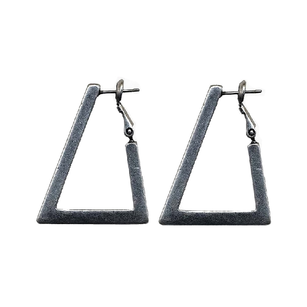 Hoop Earring Triangle Made With Pewter by JOE COOL