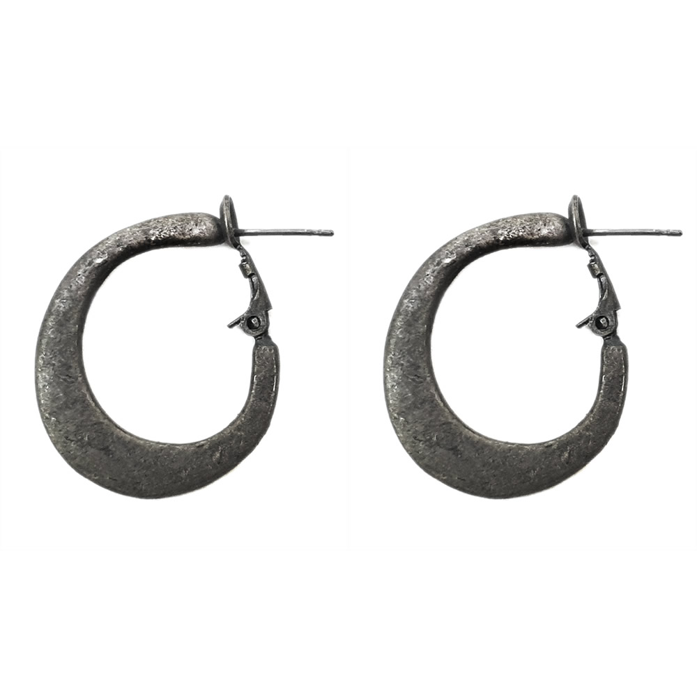 Hoop Earring 25mm Made With Pewter by JOE COOL