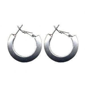 Hoop Earring 28mm Made With Pewter by JOE COOL