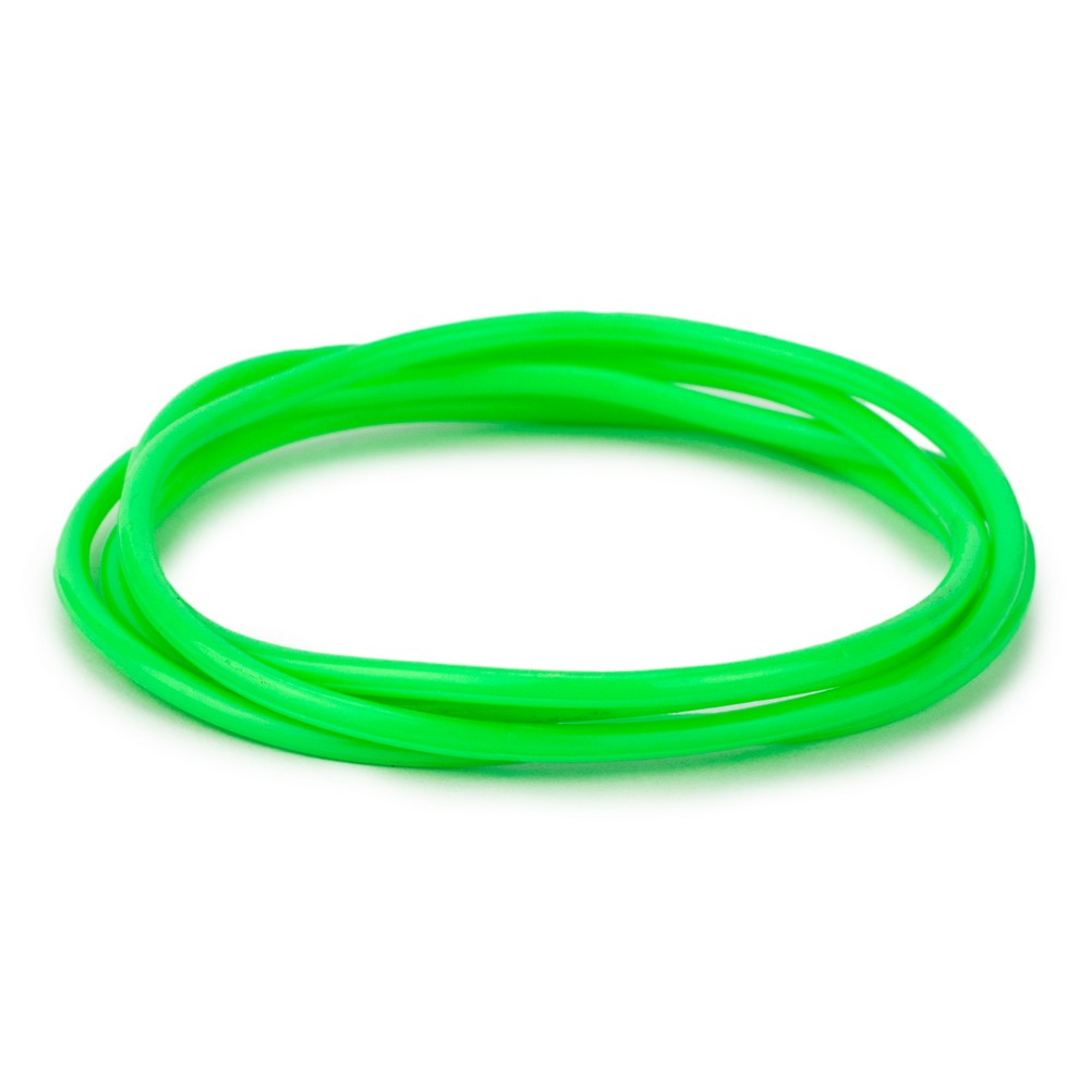 Bracelet Pack Of 4 Green Made With Gummy & Rubber by JOE COOL