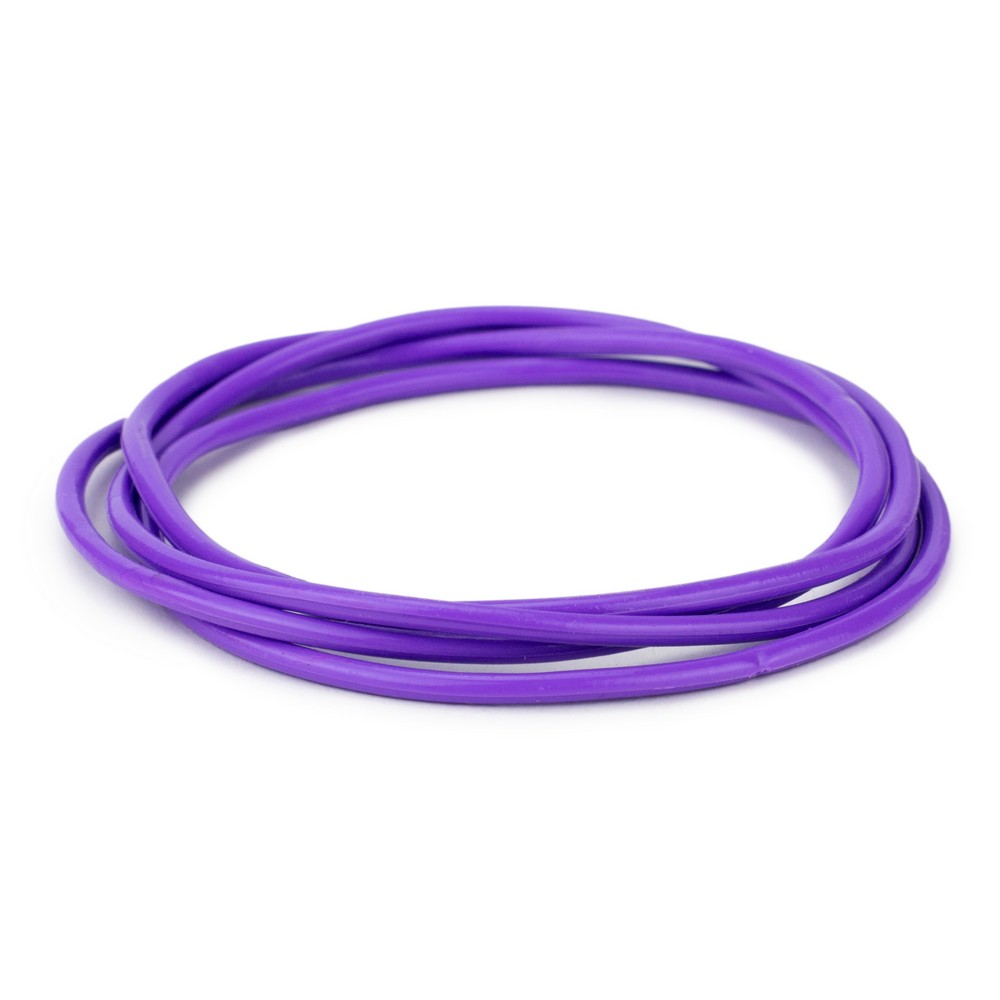 Bracelet Pack Of 4 Purple Made With Gummy & Rubber by JOE COOL