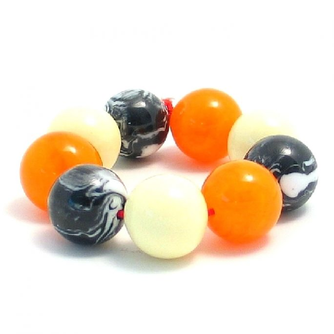 Bracelet 22mm Ball Mix Made With Resin & Elastic by JOE COOL