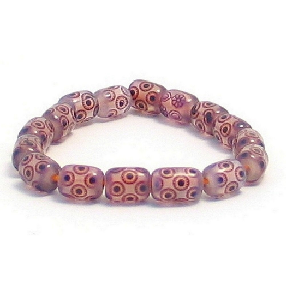 Bracelet 7mm Circle Barrel Made With Resin & Elastic by JOE COOL