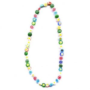 Necklace Multi Light Mix Made With Glass & Millefiori Glass by JOE COOL