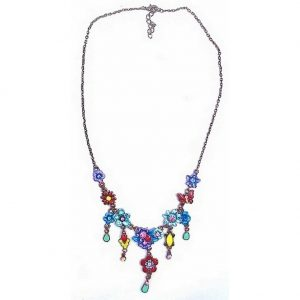 Necklace Flower (red Butterfly)_ Made With Enamel & Crystal Glass by JOE COOL