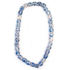 Necklace Sweetie Blue Spangle Made With Resin by JOE COOL