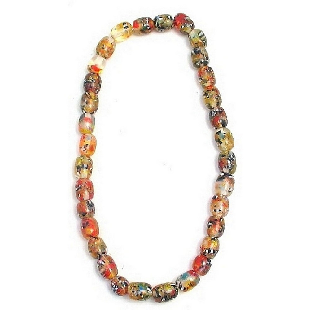 Bead String Necklace Sweetie Multi Fleck Made With Resin by JOE COOL