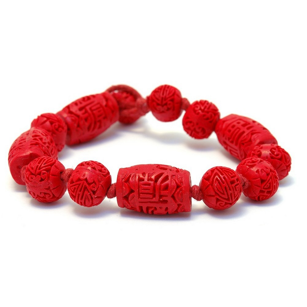 Bracelet Red Bead by JOE COOL
