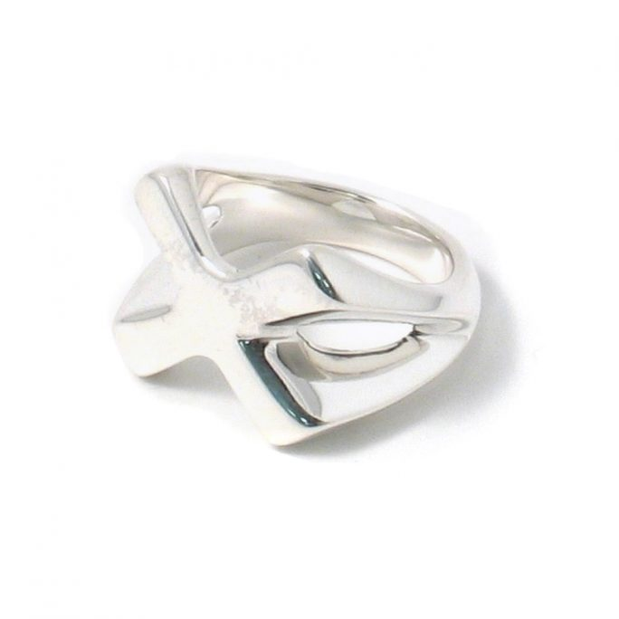 Ring X Design Made With 925 Silver by JOE COOL