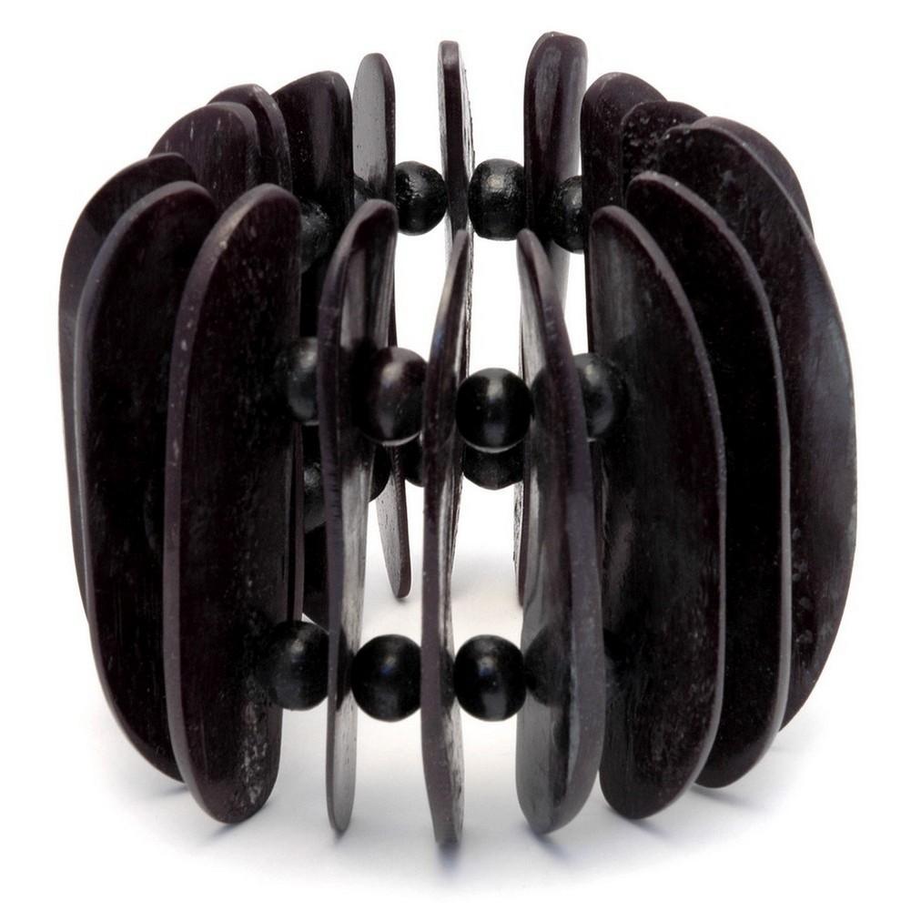Bracelet D Shape Black 70mm Made With Bone by JOE COOL