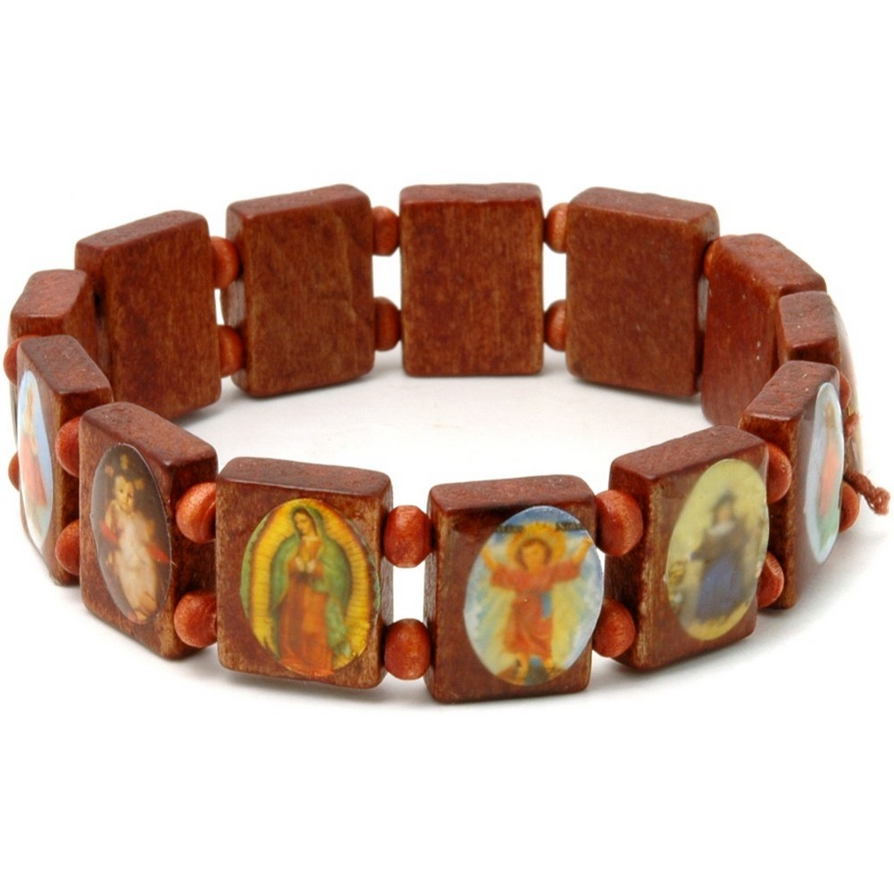 Bracelet Jesus & Saints Made With Wood by JOE COOL
