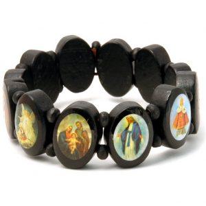 Bracelet Jesus & Saints Made With Wood by JOE COOL