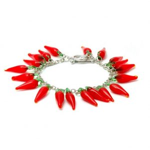 Bracelet Hot Red Chilli Made With Glass by JOE COOL