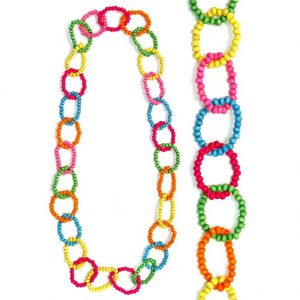 Long Necklace Self Coloured Loops 110cm Made With Wood by JOE COOL