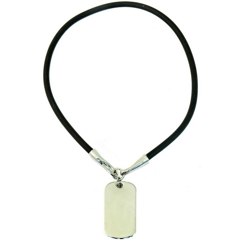 Necklace Dog Tag Made With Rubber & Zinc Alloy by JOE COOL