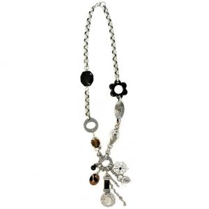Long Necklace 62cm Chain With Beads & Charms Made With Zinc Alloy & Resin by JOE COOL