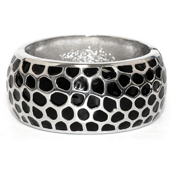 Bangle Black Indents 32mm Made With Zinc Alloy by JOE COOL