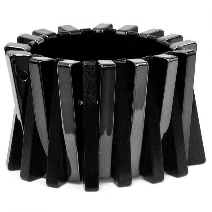 Bracelet & Black Sticks Made With Metallic by JOE COOL