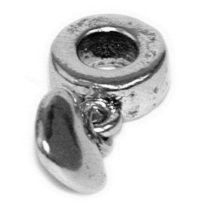 Component Bead Small Heart Drop Made With Zinc Alloy by JOE COOL