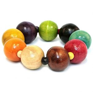 Bracelet Tang Coloured Bead Made With Wood by JOE COOL