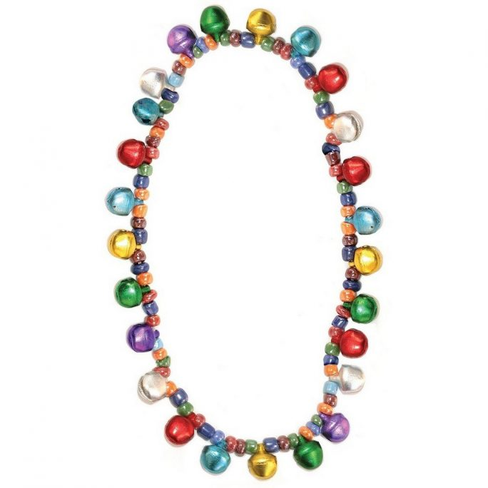 Bead String Necklace Bells Made With Tin Alloy & Elastic by JOE COOL