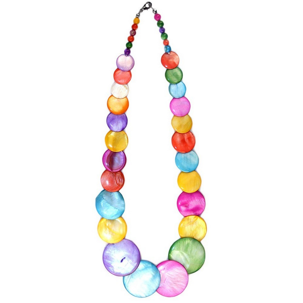 String Of Pearls Graduated Patent Disc Made With Mother Of Pearl by JOE COOL