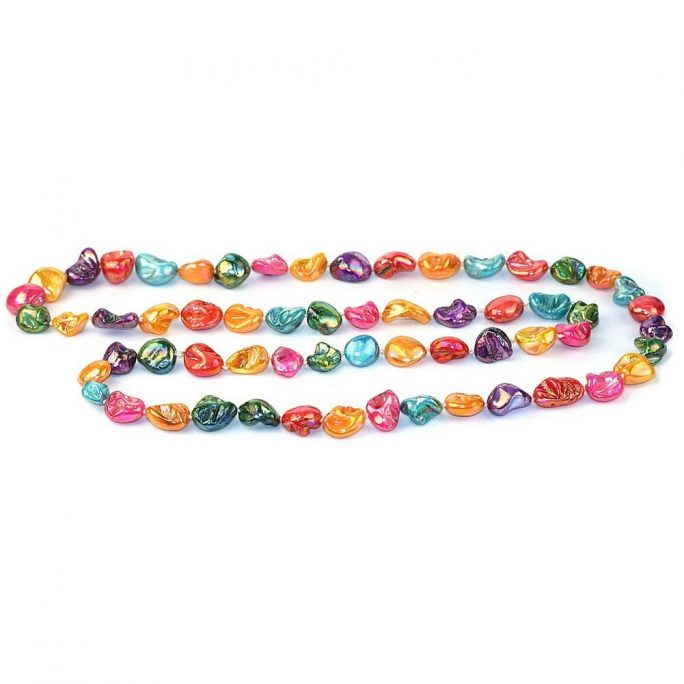 Bead String Necklace Sugar Lustre Nugget 120cm Made With Shell by JOE COOL