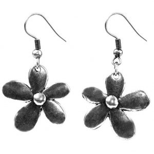 Drop Earring Crazy Daisy Made With Copper by JOE COOL