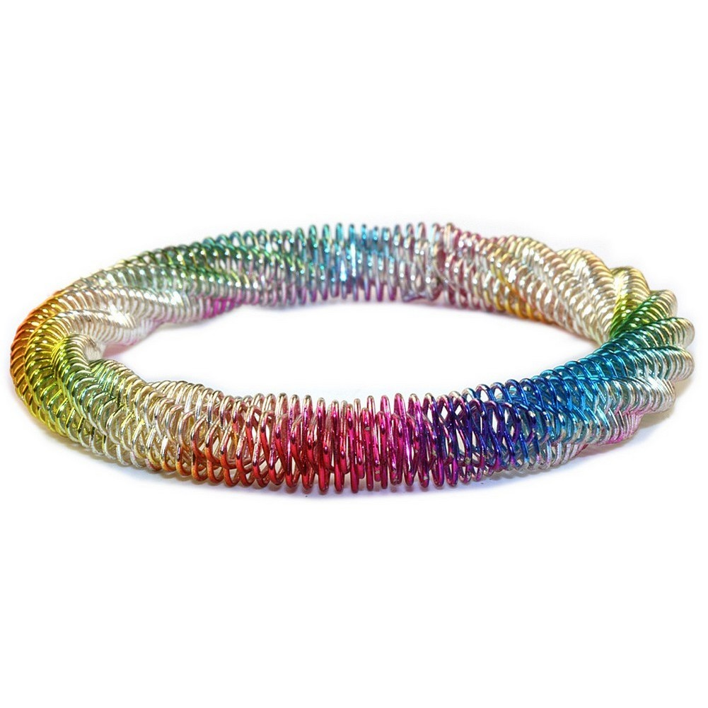 Bangle Spring Rainbow Made With Zinc Alloy by JOE COOL