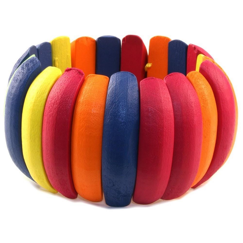 Bracelet Rainbow Cuff Made With Wood by JOE COOL