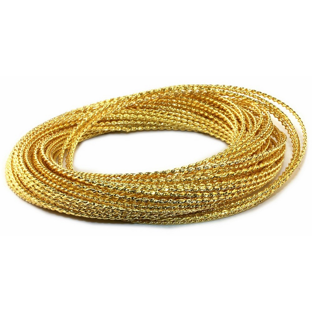 Bracelet Gold Multi-strand X50 Made With Zinc Alloy by JOE COOL