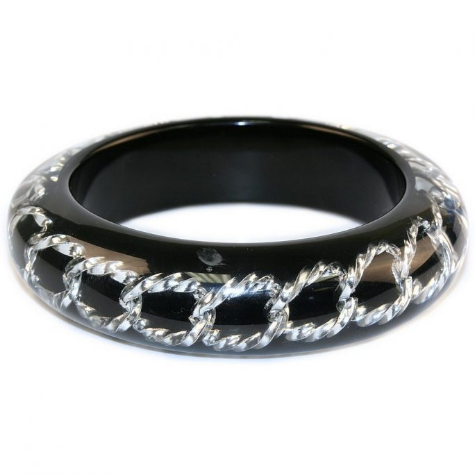 Bangle Silver Chain Made With Resin by JOE COOL