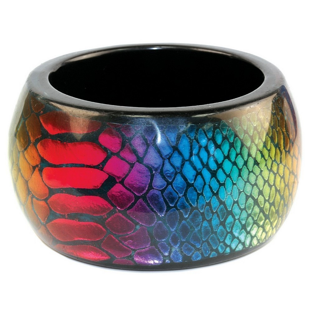 Bangle Neon Snake Skin Made With Resin by JOE COOL