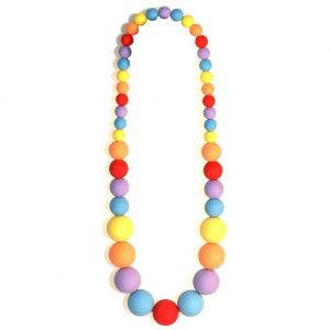 Necklace Frosted Sugar Ball Beads Made With Resin by JOE COOL