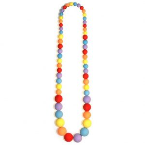 Bead String Necklace Frosted Sugar Ball Beads Elasticated 70cm Made With Resin by JOE COOL