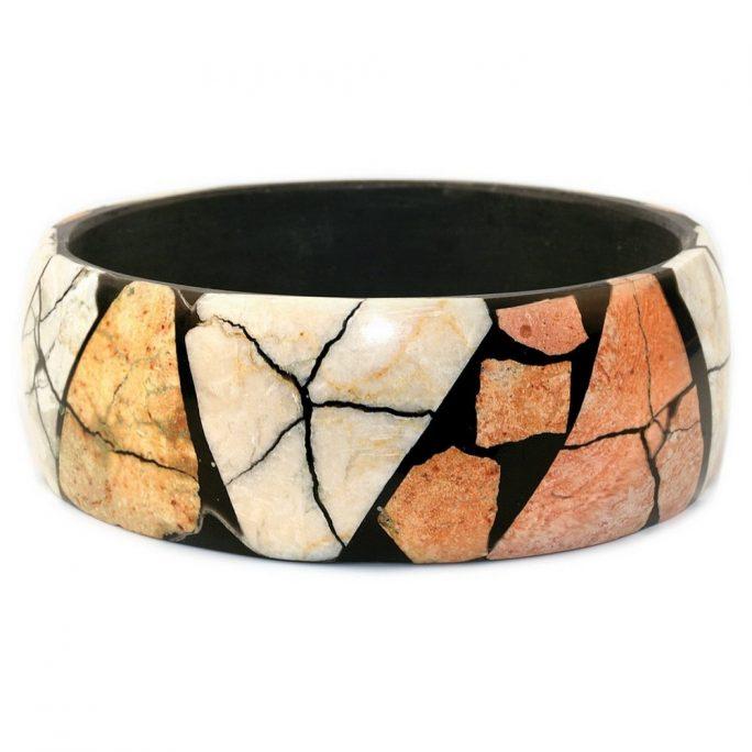 Bangle Mosaic Made With Stone by JOE COOL