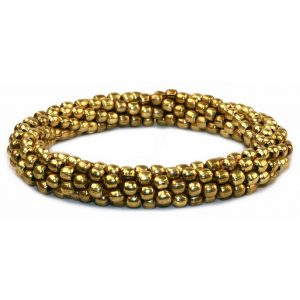 Bracelet Full Ball Roll Up Gold Made With Zinc Alloy by JOE COOL