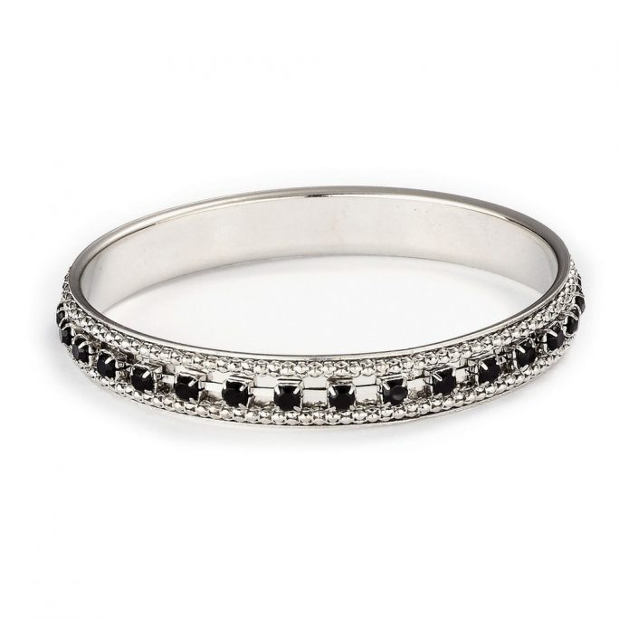 Bangle Studded 10mm Made With Crystal Glass & Tin Alloy by JOE COOL